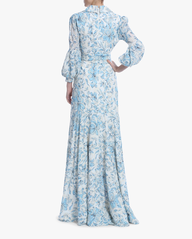 Badgley Mischka Floral Eyelet Hi-Low Dress 3
