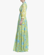 Badgley Mischka Floral Tiered Gown 2