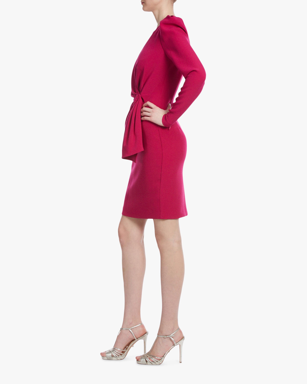 Badgley Mischka Raspberry Side-Knot Cocktail Dress 2
