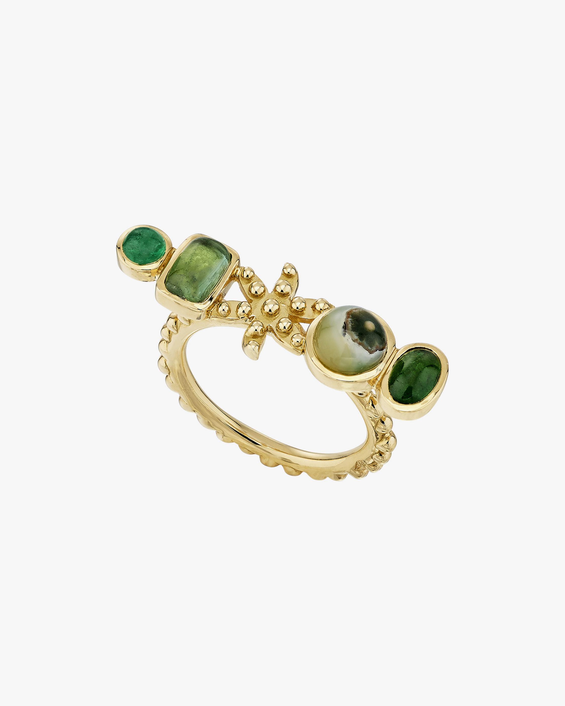 Gaya Green Flower Ring 0