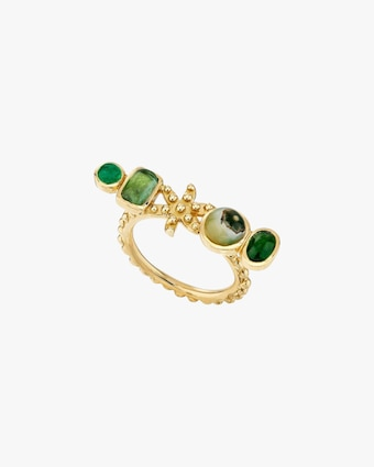 Gaya Green Flower Ring 1