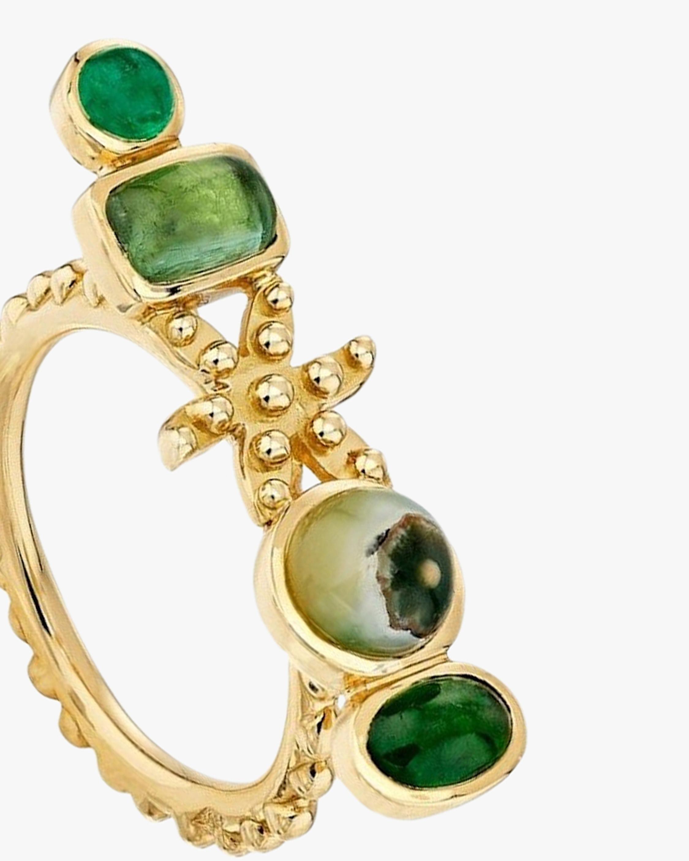 Gaya Green Flower Ring 2
