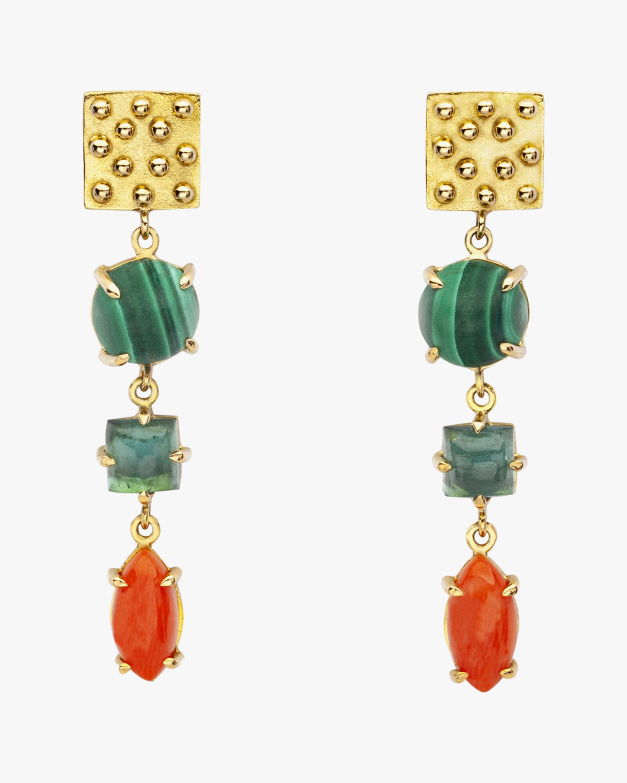 Gaya Square Drop Earrings 0