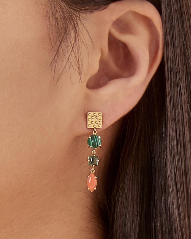 Gaya Square Drop Earrings 1