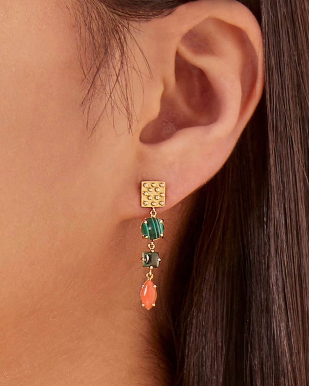 Gaya Square Drop Earrings 2