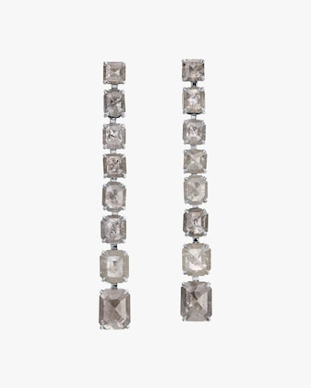 Nina Runsdorf Clair de Lune Line Earrings 1
