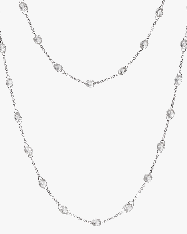 Diamond Briolette Chain Necklace