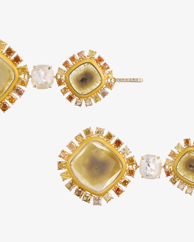 Nina Runsdorf Yellow Slice Diamond Earrings 1