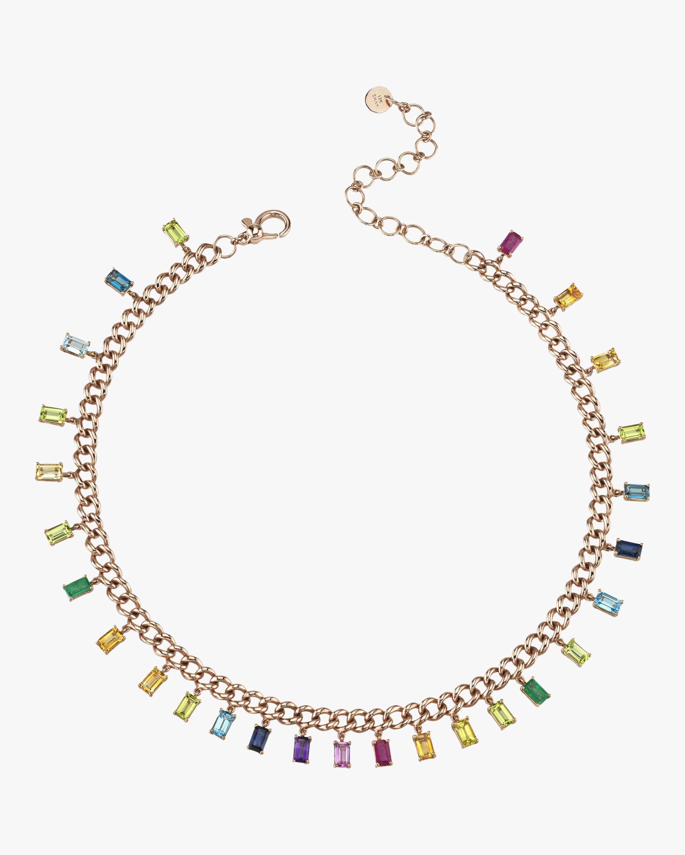 Shay Jewelry Rainbow Gemstone Choker 0
