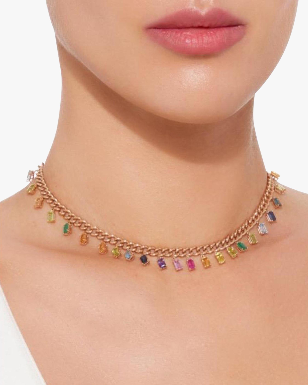 Shay Jewelry Rainbow Gemstone Choker 1