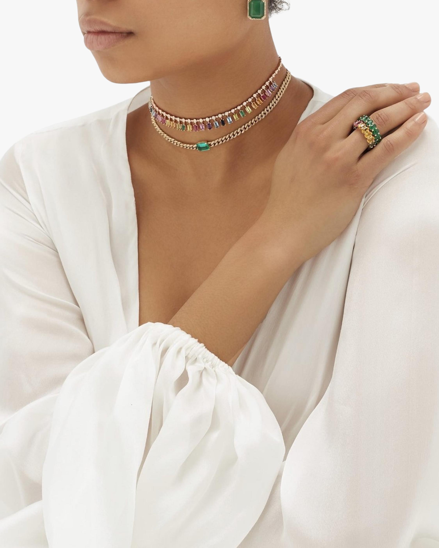 Shay Jewelry Rainbow Gemstone Choker 2