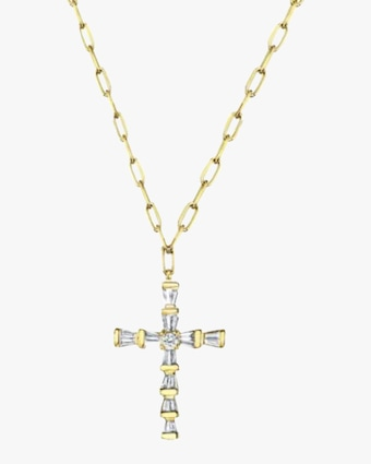 Mini Cross Pendant Necklace