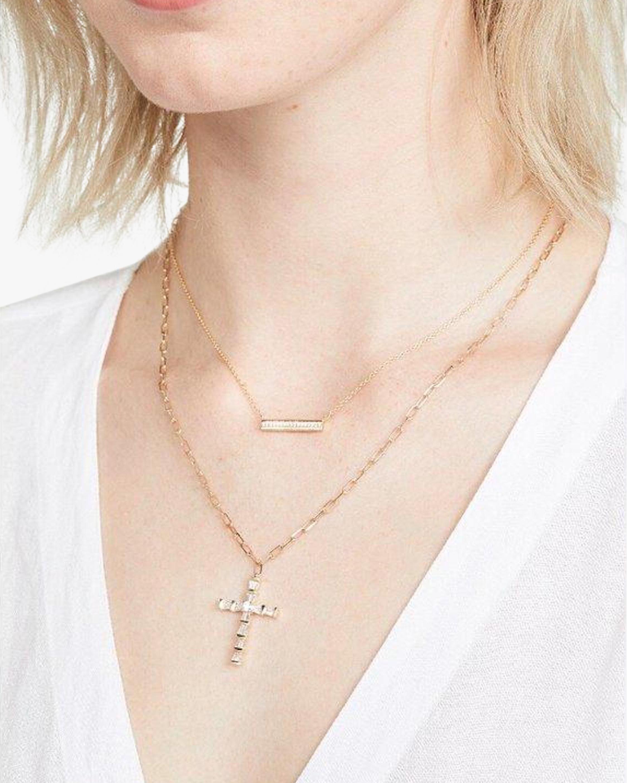 Shay Jewelry Mini Cross Pendant Necklace 1
