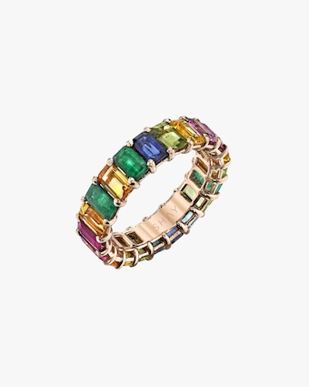 Shay Jewelry Rainbow Gemstone Eternity Band 1