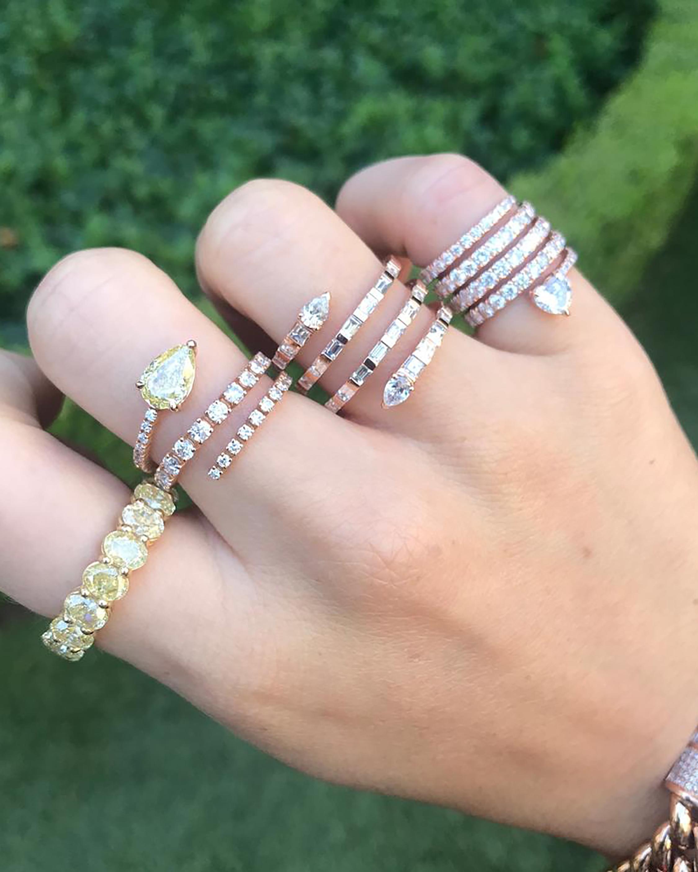Shay Jewelry Teardrop Diamond Spiral Ring 1