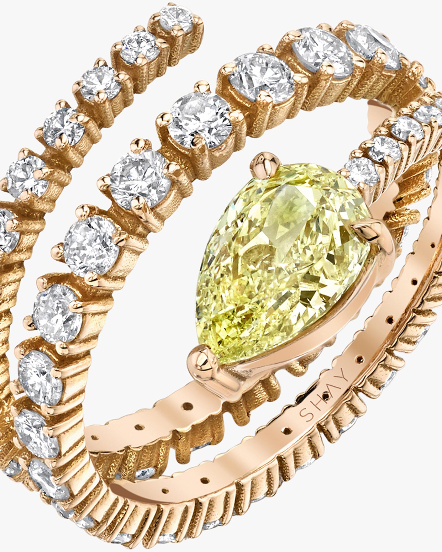 Shay Jewelry Teardrop Diamond Spiral Ring 2