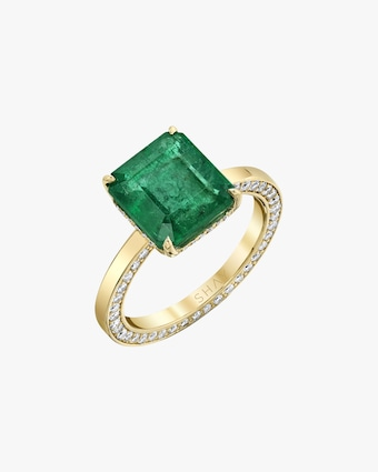 One-of-a-Kind Emerald & Diamond Ring