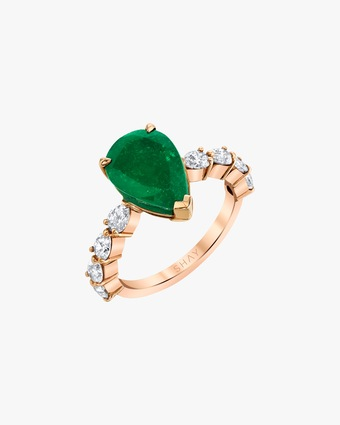 One-of-a-Kind Emerald Pear Ring