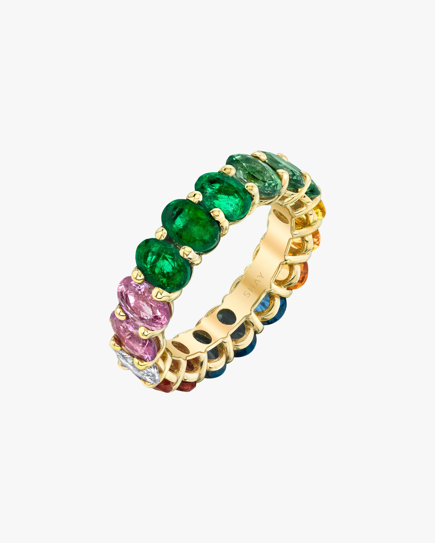 Shay Jewelry Oval Rainbow Band 0