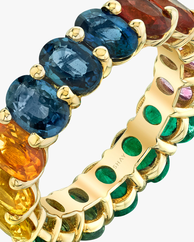 Shay Jewelry Oval Rainbow Band 3