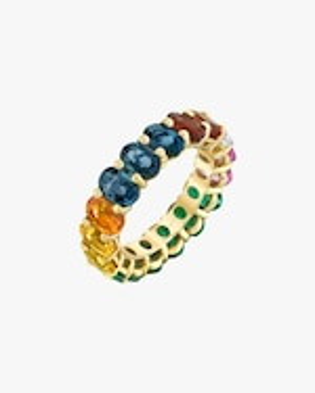 Shay Jewelry Oval Rainbow Band 2