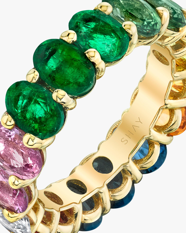 Shay Jewelry Oval Rainbow Band 4