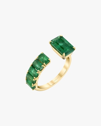 Shay Jewelry Floating Emerald Ring 1