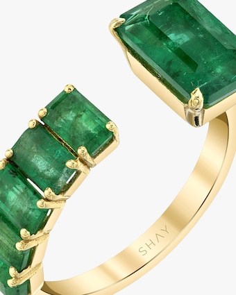 Shay Jewelry Floating Emerald Ring 2
