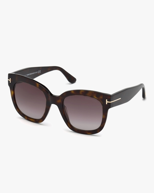 Tom Ford Tortoise Square Sunglasses 0