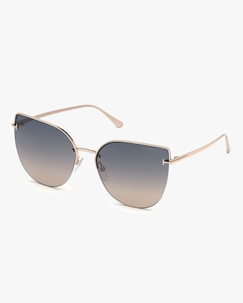 Tom Ford Goldtone Gradient Round Sunglasses 1