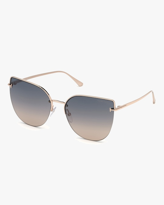 Tom Ford Goldtone Gradient Round Sunglasses 0