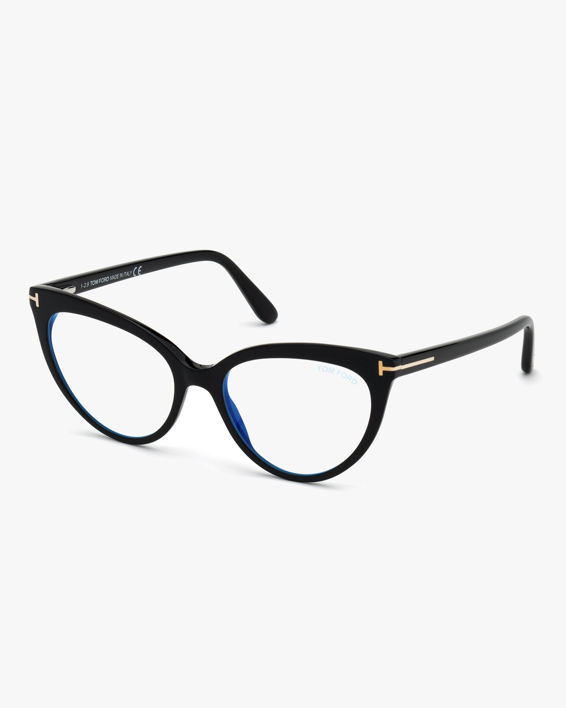 Tom Ford Black Cat-Eye Eyeglasses 2