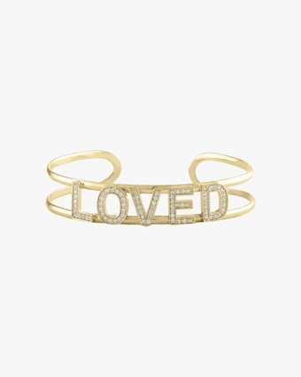 Loved Mantra Diamond Cuff