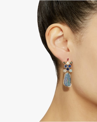 One-of-a-Kind Boulder & Kyanite Earrings