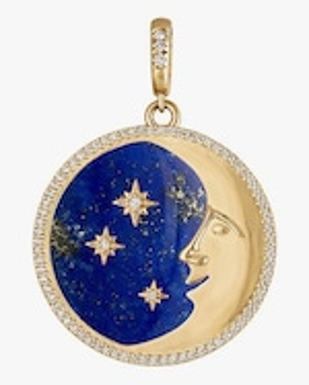 Eden Presley More than the Moon Lapis Pendant 0
