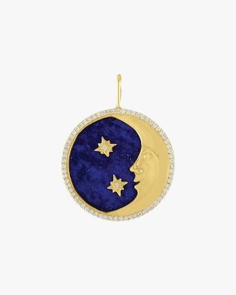 Eden Presley More than the Moon Lapis Pendant 1
