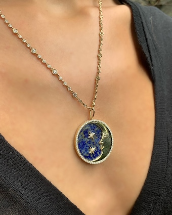 Eden Presley More than the Moon Lapis Pendant 2