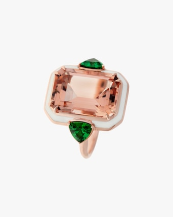 One-of-a-Kind Tsavorite & Morganite Ring