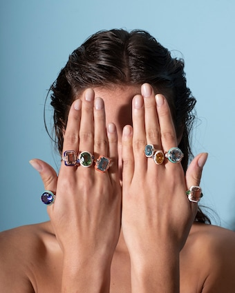 One-of-a-Kind Sapphire & Beryl Ring
