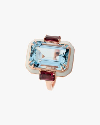 One-of-a-Kind Tourmaline & Aquamarine Ring
