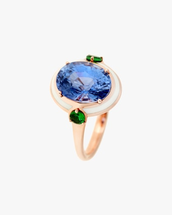 One-of-a-Kind Tsavorite & Sapphire Ring