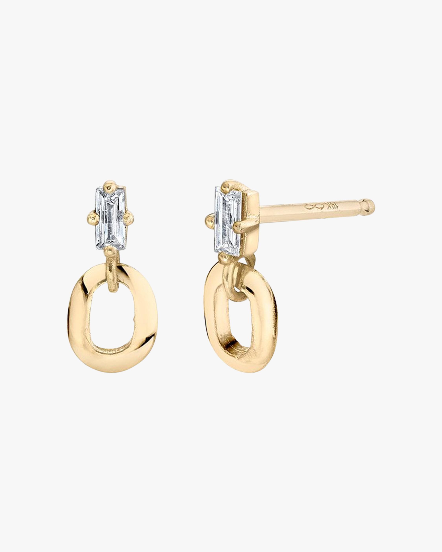 Lizzie Mandler Knife Edge Oval Link Drop Earrings 2