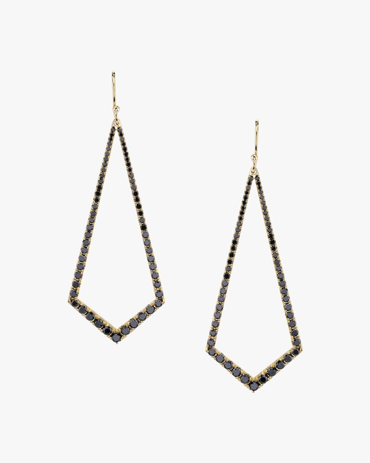 Lizzie Mandler Black Diamond Kite Chandelier Earrings 0