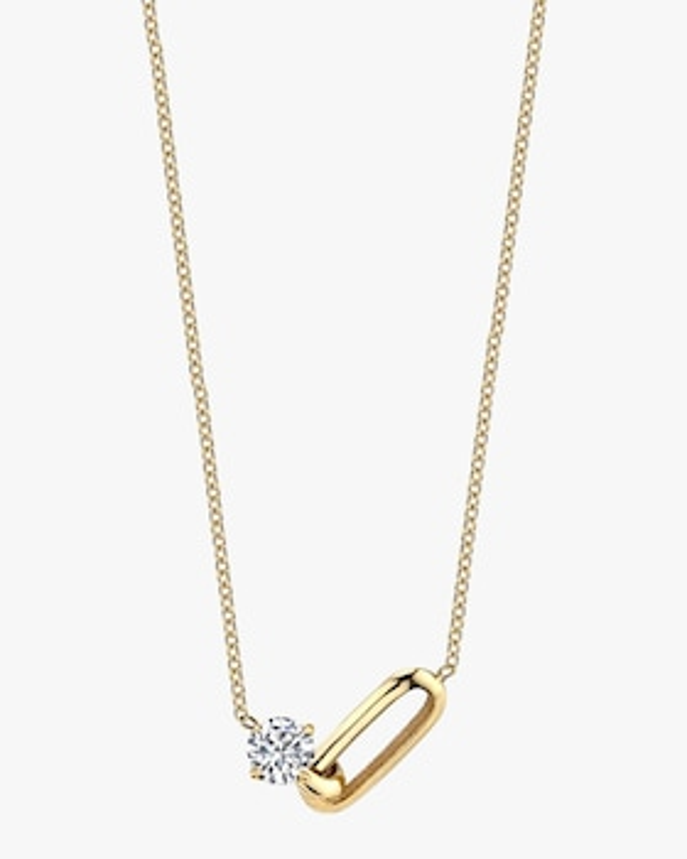 Diamond Link Pendant Necklace