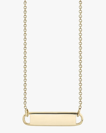 Lizzie Mandler Name Plate Necklace 2