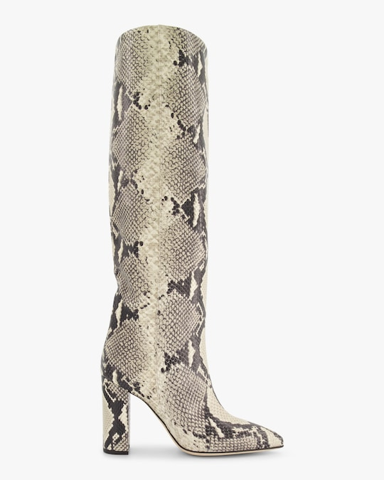 Paris Texas Snake-Print Leather Boot 0