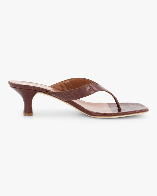 Paris Texas Croc-Embossed Thong Sandal 0
