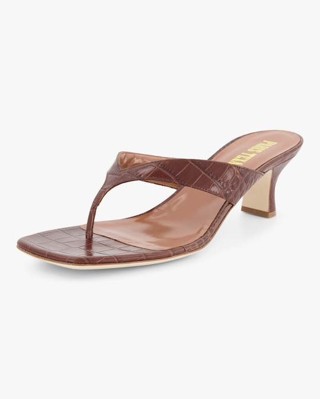 Paris Texas Croc-Embossed Thong Sandal 1