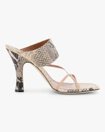 Paris Texas Python-Embossed Crossover Thong Sandal 0