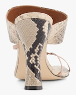 Paris Texas Python-Embossed Crossover Thong Sandal 3